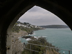 Protective View (Worthing Wanderer) Tags: grey coast spring cornwall cloudy harbour path windy estuary april fowey dull southwestcoastpath