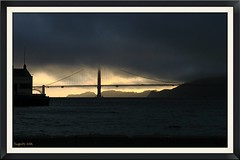 Good night (apulloa@sbcglobal.net) Tags: bridge sunset fog clouds puente atardecer goldengate nubes puestadesol neblina