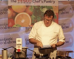 Chef Nigel Haworth at the Fantastic Food Show - stirring the sauce (Tony Worrall Foto) Tags: show uk england food cooking fun fry fantastic year sunday may cook 4th lancashire blackburn event chef celeb cooks 19th potsandpans foodie lancs returned foodshow 2013 chefswhites haworths nigelhaworthsfantasticfoodshow