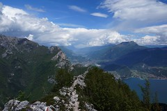 Looking from Cima al Bal in the Sarca Valley (WeatherMaker) Tags: italien italy mountains alps day cloudy hiking alpen nara trentino cima bal lagodigarda gardasee pregasina