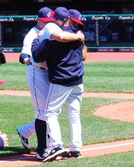 Embracing the Moment (Will Bryan) Tags: clevelandindians mlb majorleaguebaseball terryfrancona justinmasterson progressivefield