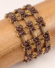 Lattice Gates (njdesigns) Tags: handmade patterns jewelry bracelet handcrafted instructions beading beaded tutorials beadweaving beadwoven