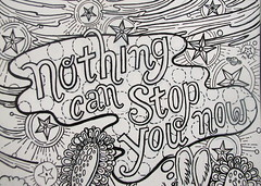 nothing can stop you (Pippypippy) Tags: streetart art moleskine pencil ink painting stars artwork sticker stickerart drawing sketchbook draw gouache pencildrawing