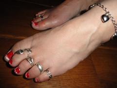 I am back 4 (basang2012) Tags: feet tattoo female foot toes bare nails heels soles toering
