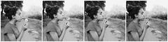 Make a wish (Sofia Jones) Tags: blackandwhite bw flower girl photography young wish wishing