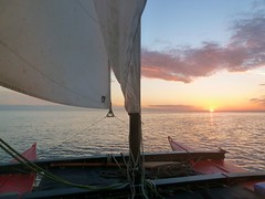 Sunrise 4.50 a.m. under sail (John of Wirral) Tags: sunrise irishsea liverpoolbay