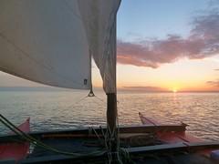 Sunrise 4.50 a.m. under sail (John of Wirral) Tags: sunrise catamaran irishsea wharram liverpoolbay hitia17