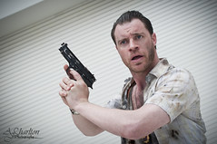 Photograph 008 - John Mcclane (AJ Charlton Photography) Tags: london up docks aj photography die comic dress expo cosplay hard may con excel ajc charlton mcm francy 2013
