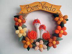 Guirlanda Caracol - 36 x 36 cm (lindasarts.brasil) Tags: casa guirlanda fuxico decoração enfeiteparaporta guirlandabemvindo