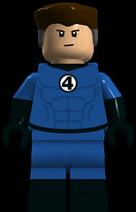 Mr. Fantastic (Normal Variant) (911Bug) Tags: blue black reed four fantastic lego mr mister decal minifig marvel richards decals minifigure stretchy