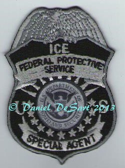 Federal Protective Service Badge Patch (Old Style Subdued)
