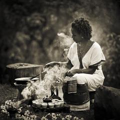 Coffee ceremony - Ethiopia (Steven Goethals) Tags: africa woman coffee lady traditional ceremony clothes ethiopia sidama ethiopie sidamo alem yirga