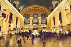 Grand Central. (Socceraholic) Tags: street nyc newyorkcity travel people usa ny newyork motion film buildings photography 50mm us long exposure centralpark streetphotography wideangle 7d empirestatebuilding grandcentral urbanism 50mmf14 vsco canoneos7d