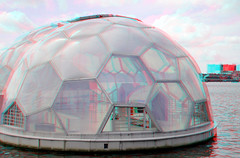 Rijnhaven Paviljoen 3D (wim hoppenbrouwers) Tags: 3d rotterdam anaglyph stereo domes kopvanzuid paviljoen dwa wilhelminapier redcyan rijnhaven koepels floatingpavilion drijvendpaviljoen rijnhavenpaviljoen