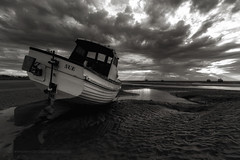 """Rays of Light"" (Mono) (Ray Mcbride Photography) Tags: boats mono seascapes fishingboats merseyside meols beacheslandscapes"