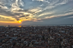 Sunset over Venice (Carlo of the Forest) Tags: venice sunset italy campanile venezia piazzasanmarco 2013