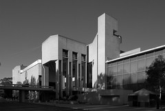West elevation (See.jay) Tags: bw white black scale public architecture concrete australia ramps architect canberra edwards briggs nationalartgallery brutalist nga madigan emtb torzillo betonbrut