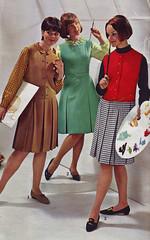 Spiegel 65 FW red vest (jsbuttons) Tags: red fashion vintage mod 60s dress buttons spiegel skirt womens dresses button jumper catalog vest sixties 1965 pleated