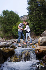 River Kissing (Keele_Photography) Tags: city trees boy lake love nature water girl river engagement big nikon kiss couple rocks soft box salt canyon cottonwood 2470mm sb800 jrx d7000 radiopopper