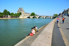 Paris : Anatole-France quay (Pantchoa) Tags: paris castle seine river walking louvre anatolefrance palace quay palais orsay pontroyal
