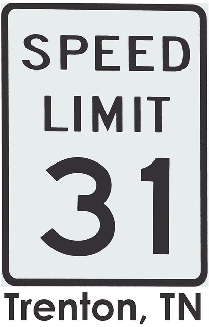 Things for sale: T-shirt Design #2: Trenton, TN Speed Limit 31 sign