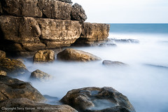 The Rugged Coast (TDR Photographic) Tags: uk longexposure autumn light sea england blur canon landscape coast movement dorset possibles winspit eos5d dorsetcoastpath thedorsetrambler