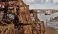 Swanage (David Purkiss LRPS CPAGB) Tags: boats fishing harbour pots dorset lobster swanage