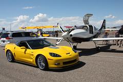 Corvette ZR1 & Lancair L4P (twm1340) Tags: show arizona car club airport sedona az sez corvette zr1 lancair 2013 l4p n6xe