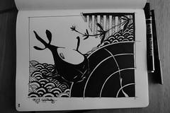 e-ko (gyjishukke) Tags: moleskine dessin study carpe pentel n50 japonisme
