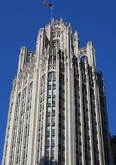 Chicago Tribune Tower Detail (Chicago, Illinois) (courthouselover) Tags: illinois il cookcounty chicago michiganavenue chicagometropolitanarea chicagoland route66 northamerica unitedstates us