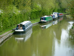 Narrow boats on the Grand Union Canal (johnzebedee) Tags: boats canal miltonkeynes buckinghamshire grandunioncanal narrowboats canalboats johnzebedee