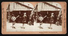 f_stereo_minstrelsofparis (ricksoloway) Tags: photohistory foundphotos eccentricity antiquephotos photographica vintagestereo vintagestereocards realphotostereocards vintagepeculiar