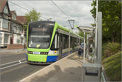 Croydon Tram 2559, Lebanon Road (RyanTaylor1986) Tags: road lebanon london station for transport tram route stop link wimbledon trams croydon tramlink tfl stadler variobahn newaddington