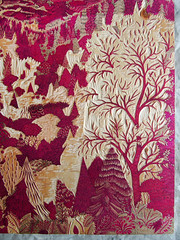 "Carving ""OVERLOOK"" Red Block (Tugboat Printshop) Tags: red art print carving printmaking process overlook woodcut woodcarving woodblock woodcutting redblock tugboatprintshop colorwoodcut colorwoodblock"