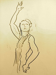 (brad.regier) Tags: paper model dancer flamenco lifedrawing drymedia
