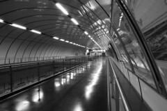 Underground station (alex.gan) Tags: tunnel metropolitana volta stazione bianconero prospettiva corridoio alchiuso sottoterra nessuno