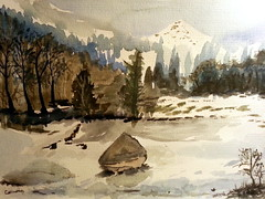 Cold place_072331 (carmona rodriguez.cc) Tags: watercolour snowylandscape