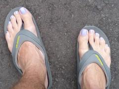 Ellen Gold - Zaza (toepaintguy) Tags: male guy men man masculine boy nail nails fingernail fingernails toenail toenails toe foot feet sandal sandals polish lacquer gloss glossy shine shiny sexy fun daring allure gorgeous lavender ellen gold creme