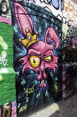 The Mad King (ur.bes) Tags: pink rose wolf loup mad fou roi king art urbain urban street graffiti exploration abandoned graff tag dessin artwork spray aerosol cans mural murals wall walls style fat cap lettering lettrage work draw fresque peinture paint canon eos 600d 600 tags painting