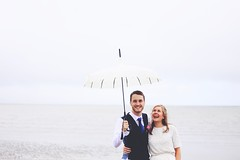 (RL Mulholland) Tags: wedding brideandgroom couple romance romantic ireland irish weather umbrella grey sea seaside blackrock louth dundalk 50mm canon 6d