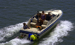 Weekend Family Pleasure Cruise (swong95765) Tags: boat power water river ride boating family dog craft cruise