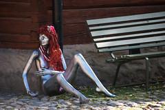 HBM Skyltdockan vid bnken/HBM Mannequin at the bench (Klas-Goran Photo) Tags: hbm fun