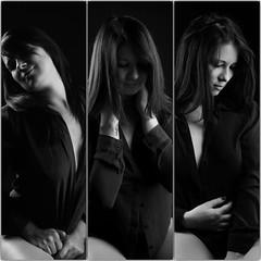 3 in 1 (dandrasphoto) Tags: mondzinger bea dek andrs portrait fekete fehr back white portr mterem studio hipstudio canon eos 1d mk4 mark4 girl lny rzs feelings