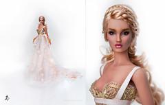 Igraine (kingdomdoll) Tags: kingdomdoll kingdom doll icini igraine ooak beauty resinfashiondoll fashiondoll 16 inch pink gold lace roses