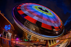 Spinning carousel (Antti Tassberg) Tags: 15mm alppiharju alppila amusement autumn carnival carnivaloflight dark fall fete fisheye funfair huvipuisto kehr light linnanmki lintsi lowlight night nightscape park prime syksy valokarnevaali y kehr linnanmki y helsinki