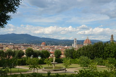 view (chaueisen) Tags: view florence gardens boboli city roof mountains clouds