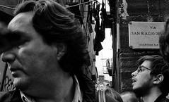 Buzz of the street. (Baz 120) Tags: candid candidstreet candidportrait city candidface candidphotography contrast street streetphoto streetcandid streetphotography streetphotograph streetportrait naples mft m43 monochrome monotone mono omd em5 blackandwhite bw urban noiretblanc life portrait people unposed olympus italy italia grittystreetphotography faces decisivemoment strangers flashstreetphotography flash streetfaces