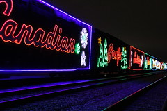 Canadian Pacific Railway (Trish P. - K1000 Gal) Tags: canadianpacificrailway holidaytrain allenpark michigan christmas lights train fooddrive night nightphotography railroad colorful leds handheld canadianpacificholidaytrain canadiantreasure canada