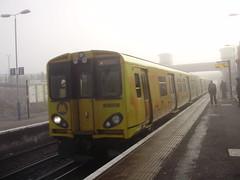 Birkenhead North (mostlybytrain) Tags: emu train liverpool mersey merseyside