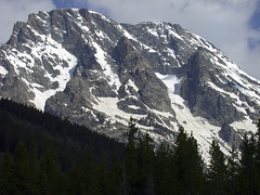 Mt. Moran (telephoto) from String Lake (spotwolf5) Tags: mtmoran tetonrange